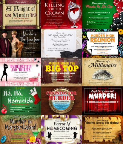 downloadable party invites night of mystery